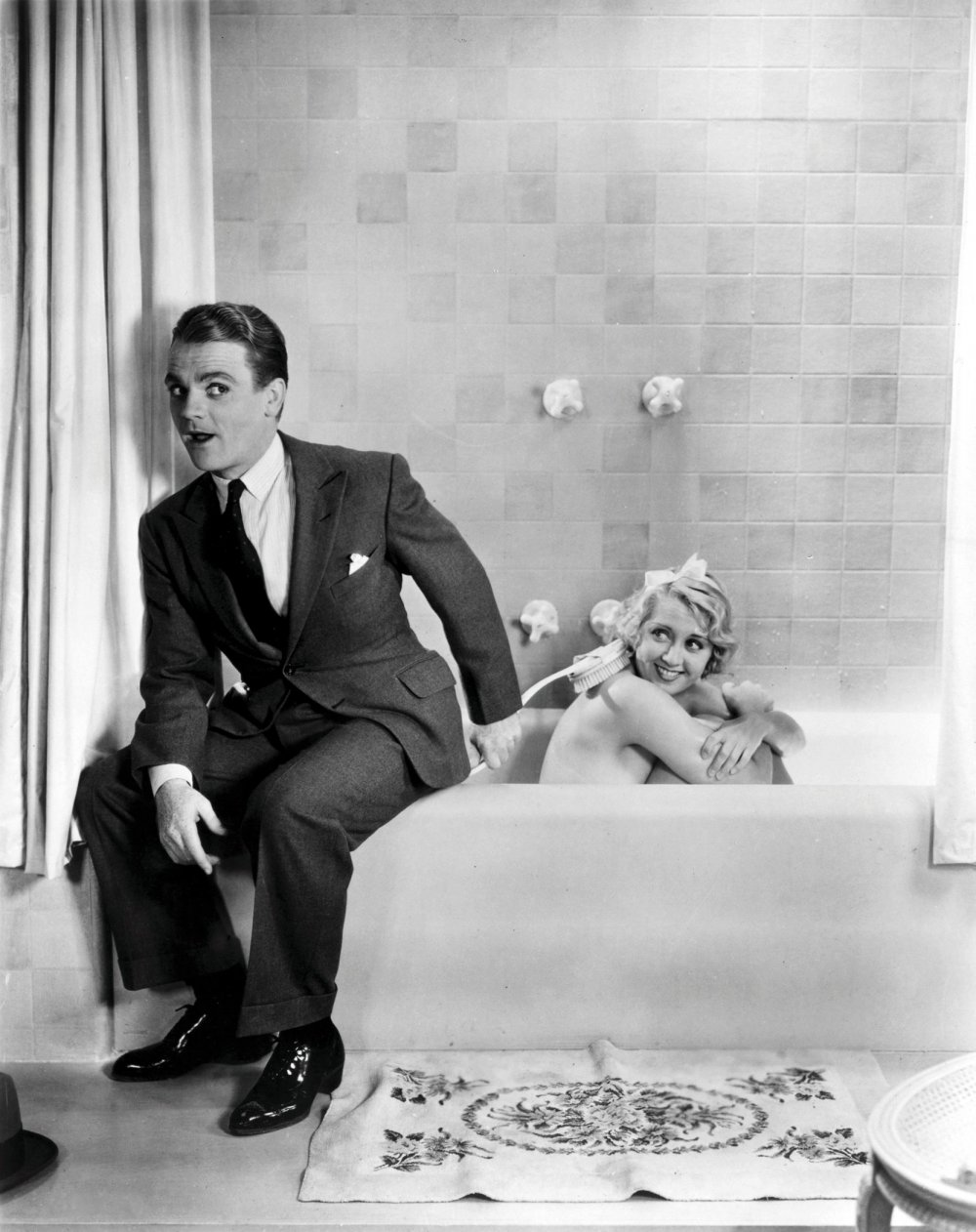 Cagney with regular co-star Joan Blondell in Blonde Crazy (1931)