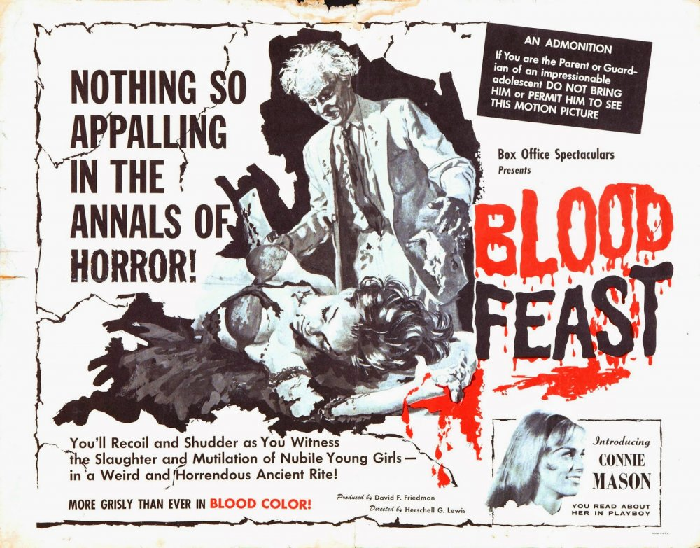 The quad poster for Blood Feast (1963)