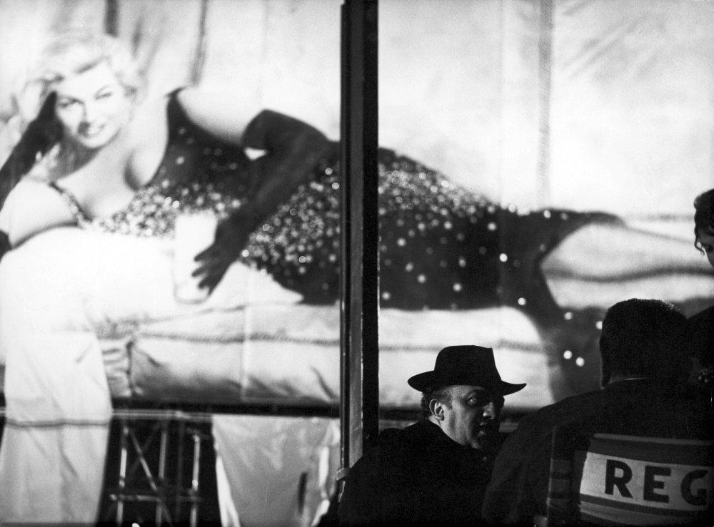 Federico Fellini directing his segment of the portmanteau film Boccaccio 70 (1962)