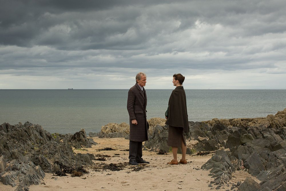 Nighy with Emily Mortimer as Florence Green