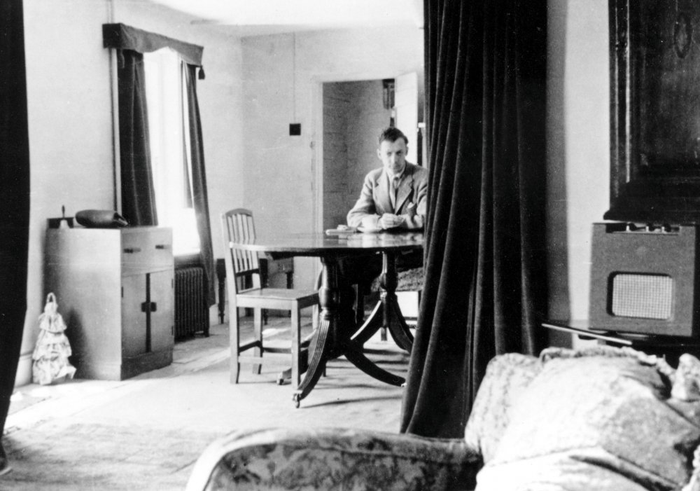 Benjamin Britten at the Old Mill, Snape, circa 1945