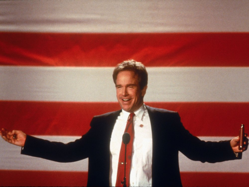 Warren Beatty as the unbridled, id-channelling, turbo-popular Senator Bulworth in his 1998 political satire Bulworth