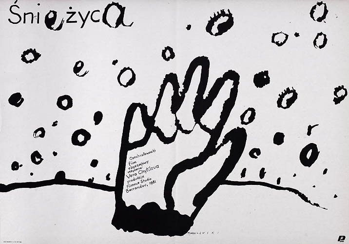 A much more oblique and impressionistic 1988 Polish design for Calamity by Mieczyslaw Wasilewski – though it retains the hand motif of its Czech equivalent.