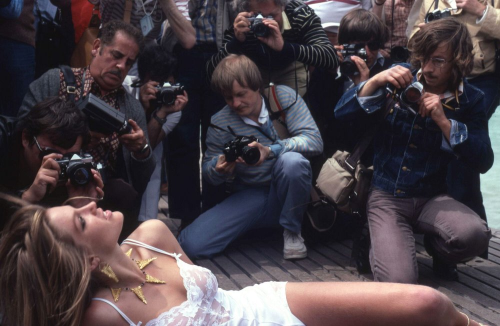 Not Raoul: press descend on model at the Cannes Film Festival, circa 1979 (and all other years)