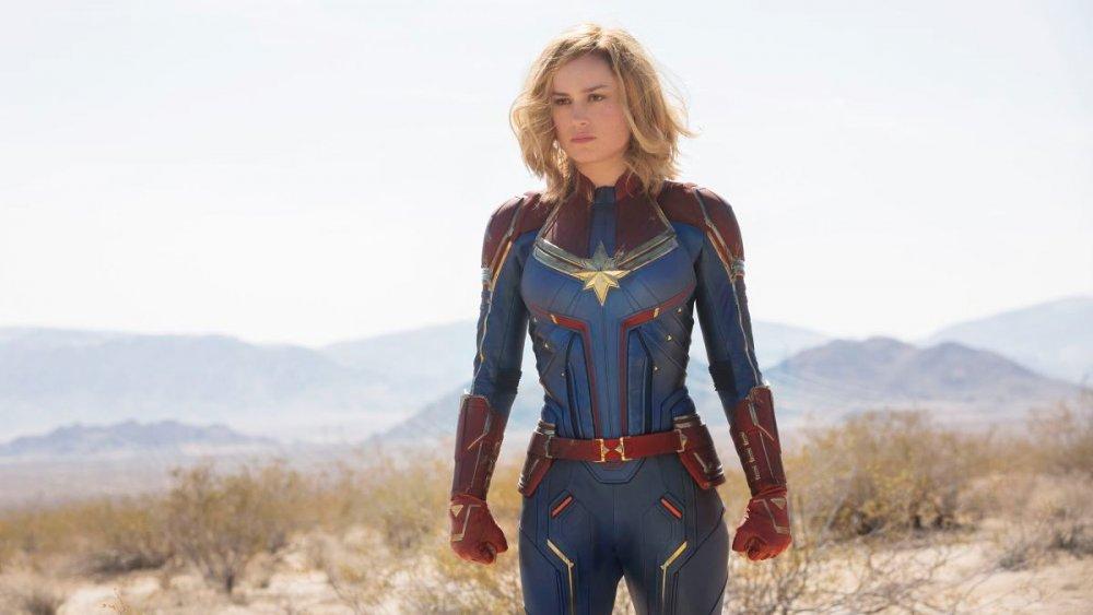 Brie Larson as Carol Danvers/Vers/Captain Marvel in Captain Marvel