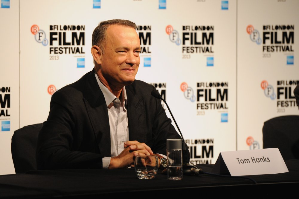 Tom Hanks at the Captain Phillips press conference