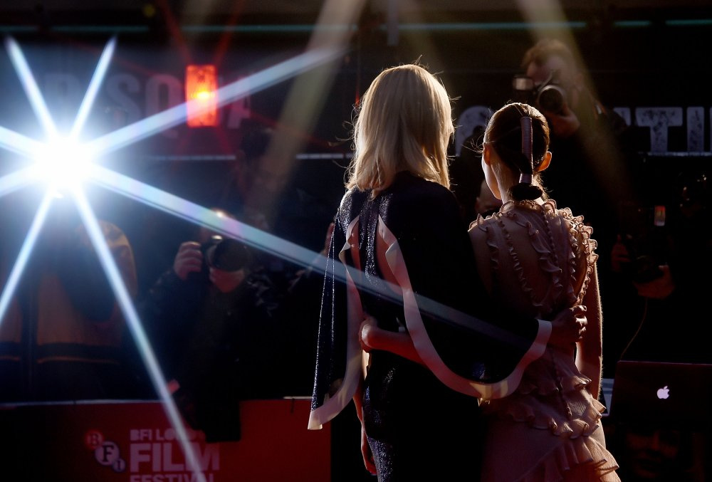 Cate Blanchett and Rooney Mara on the red carpet for the BFI London Film Festival premiere of Carol (2015)