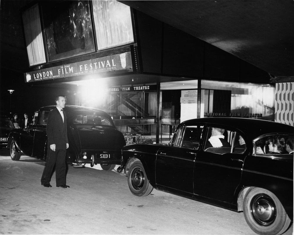 Cars arriving at the second London Film Festival, 1958