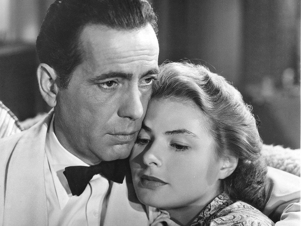 Bogart and Ingrid Bergman in Casablanca (1942)