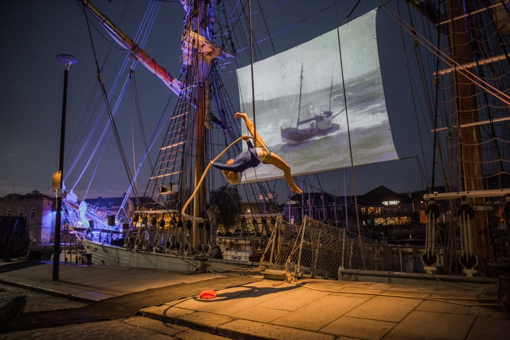 A Celluloid Sail event in Plymouth.