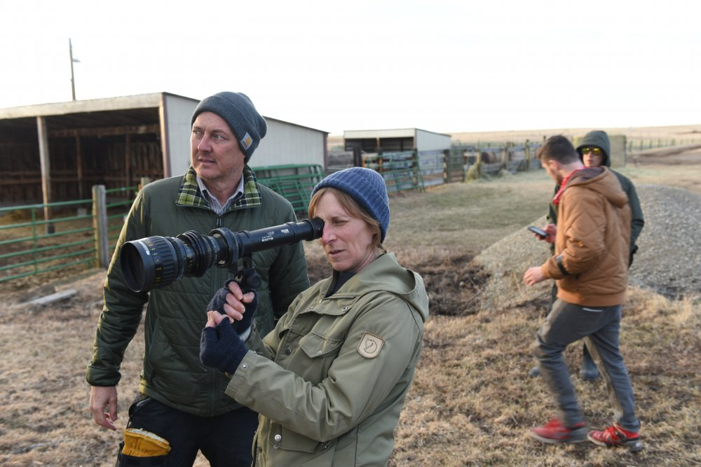Kelly Reichardt filming Certain Women (2016)