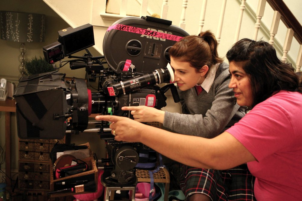 Gurinder Chadha on set