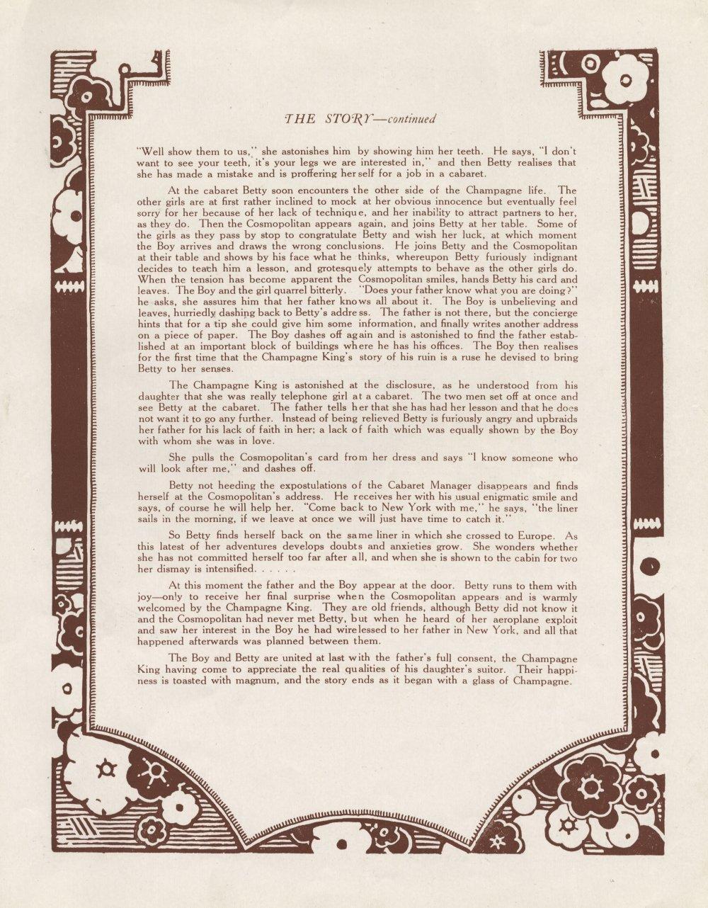 Press Book for Champagne (1928)