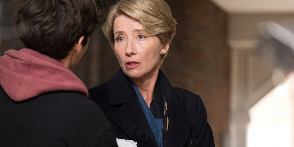 Emma Thompson as high court judge Fiona Maye with Fionn Whitehead as Adam in Richard Eyre's adaptation of Ian McEwan's The Children Act