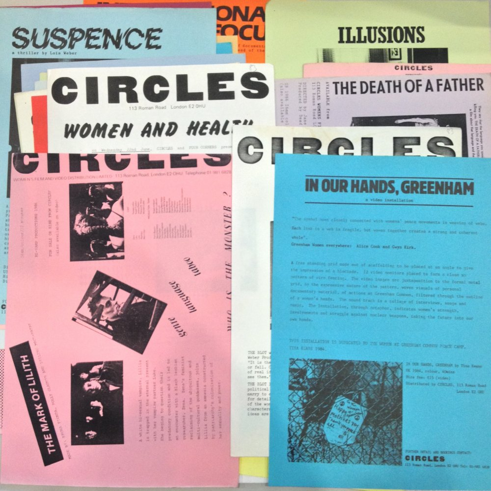 A selection of Circles publicity material from the Cinenova collection