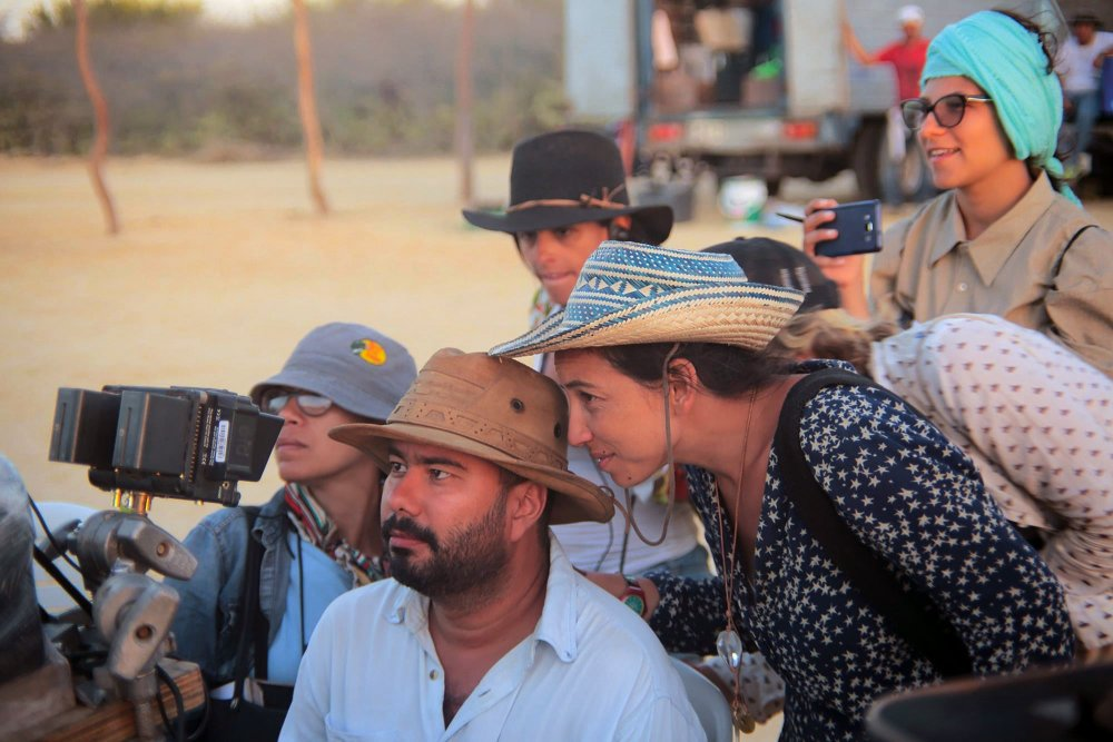 Ciro Guerra and Cristina Gallego on the set of Birds of Passage