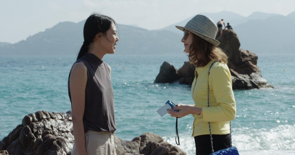 Min-hee Kim and Isabelle Huppert in Hong Sang-soo's Claire's Camera (2017)