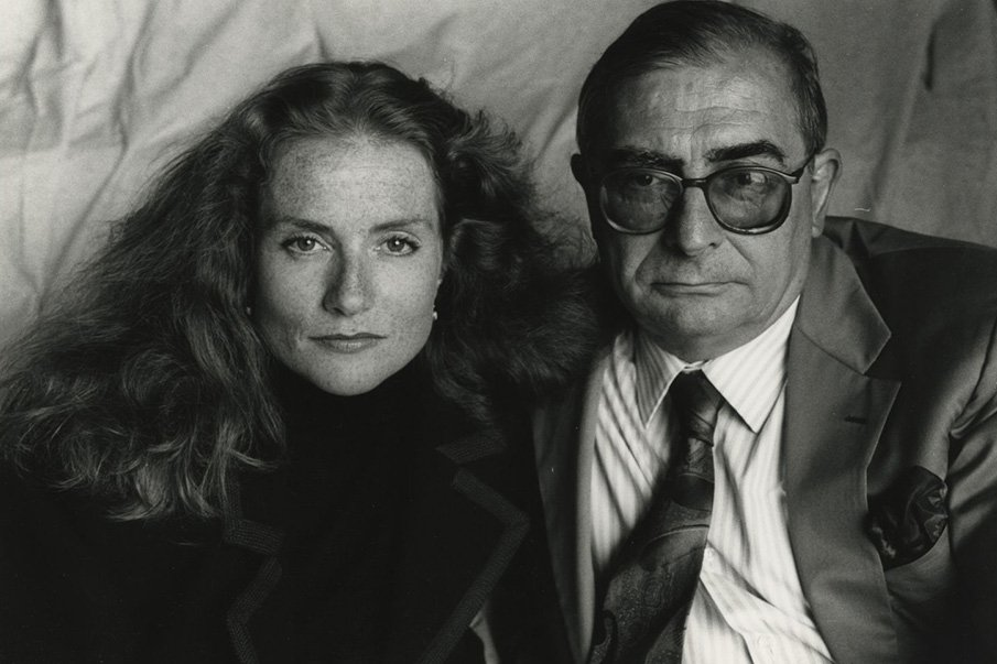 Isabelle Huppert and Claude Chabrol