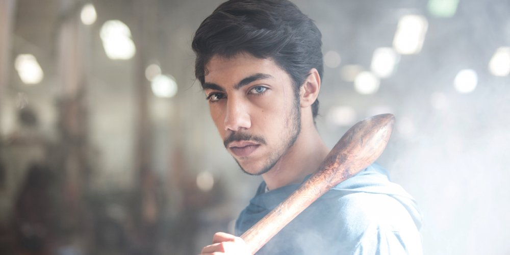 Hunter Page-Lochard as Koen West aka the Cleverman with nulla-nulla in Ryan Griffen's Sidney-set miniseries