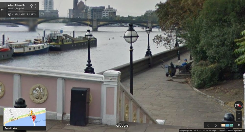 Embankment Bridge: Google Maps, October 2015