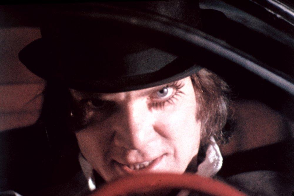 Malcolm McDowell as Alex DeLarge in A Clockwork Orange