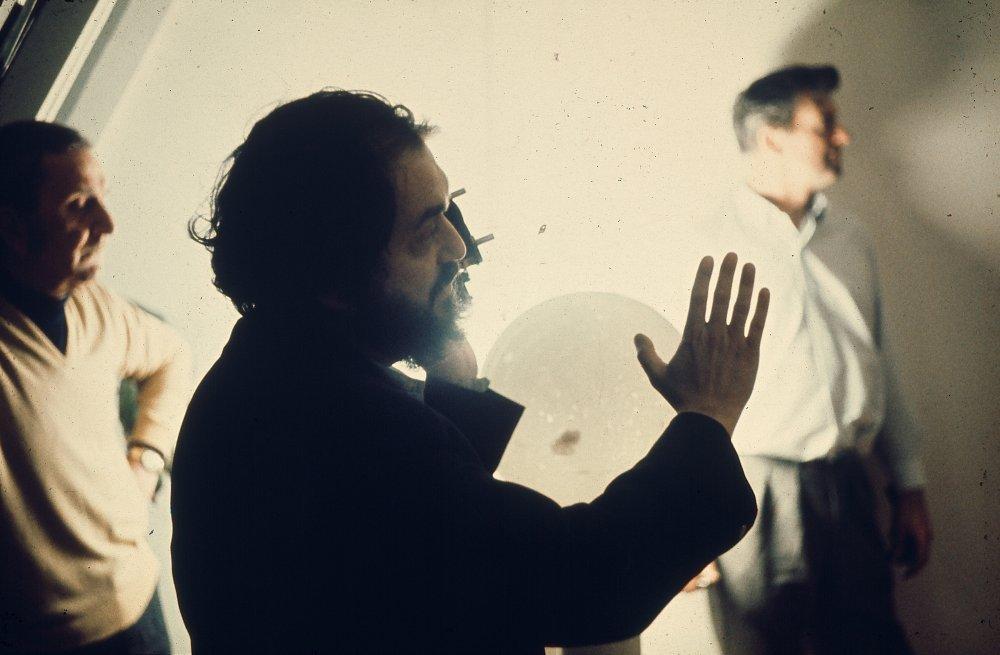 Stanley Kubrick directing A Clockwork Orange (1971)