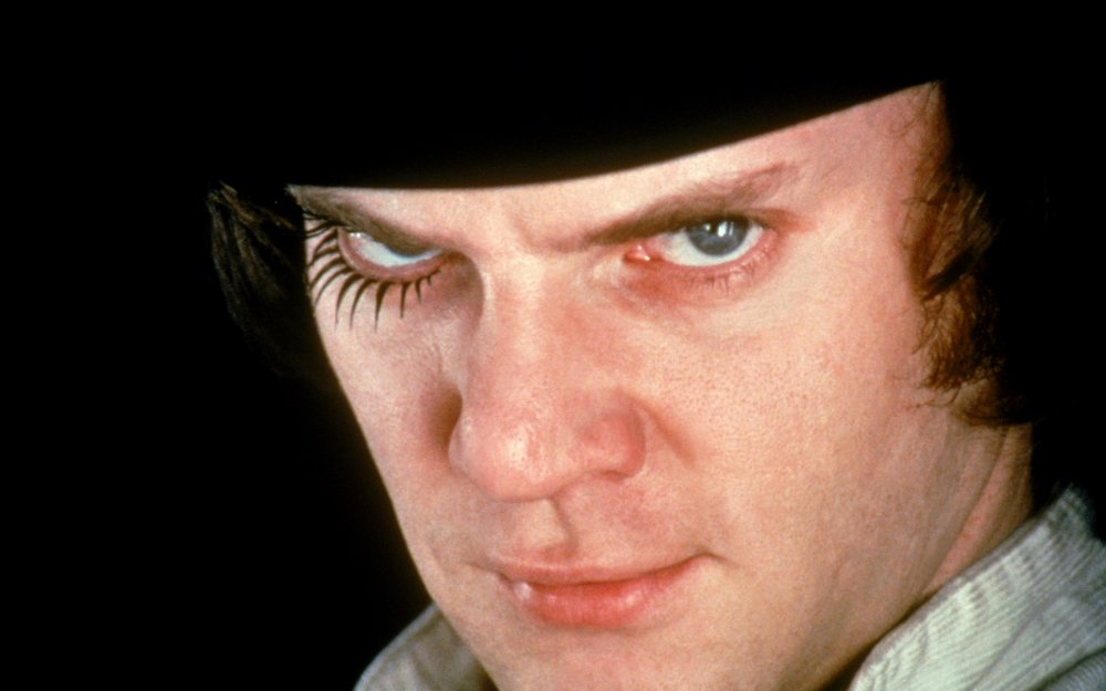 Malcolm McDowell as Alex Delarge in A Clockwork Orange (1971)