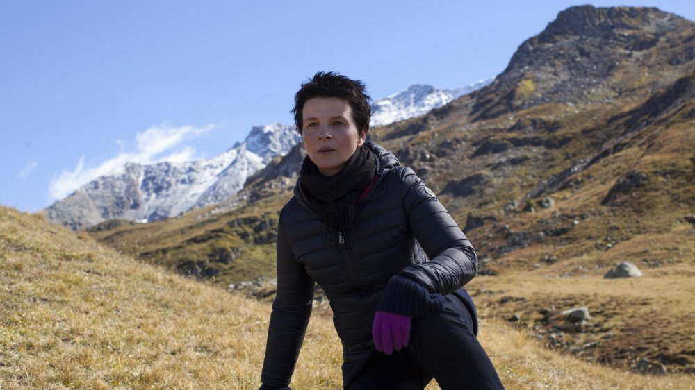 Juliette Binoche in Olivier Assayas's Clouds of Sils Marie. Will there be a surprise tonight?