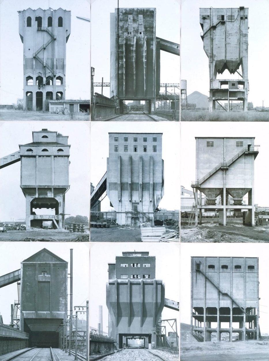 Bernd Becher and Hilla Becher's Coal Bunkers (1974)