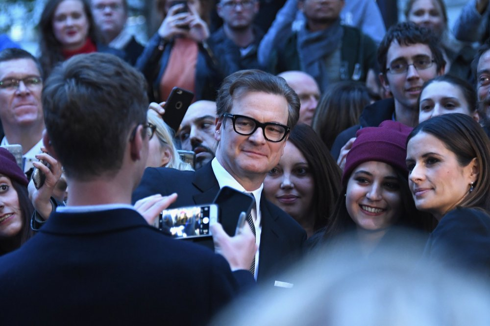 Colin Firth attends the Headline Gala screening of Nocturnal Animals at Odeon Leicester Square on October