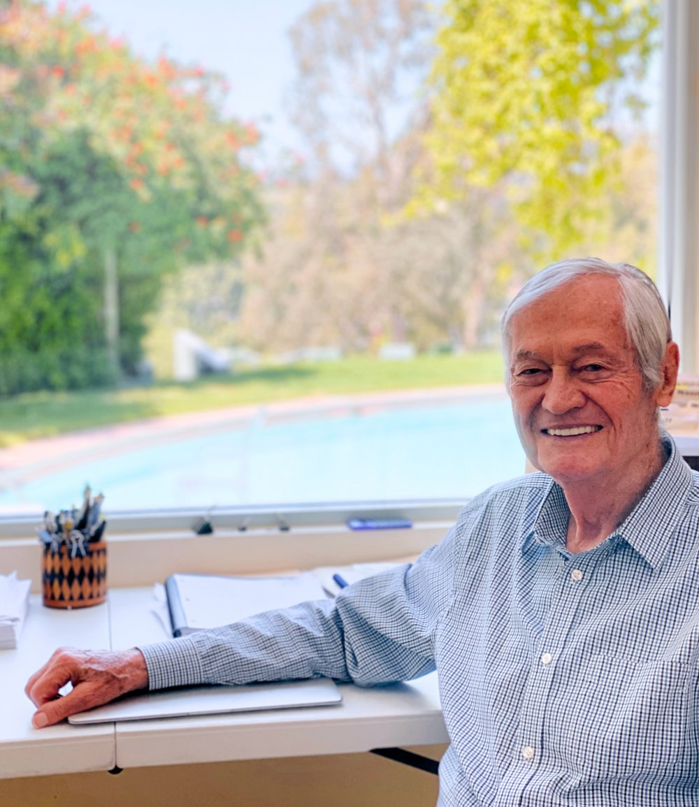 Roger Corman, working from home