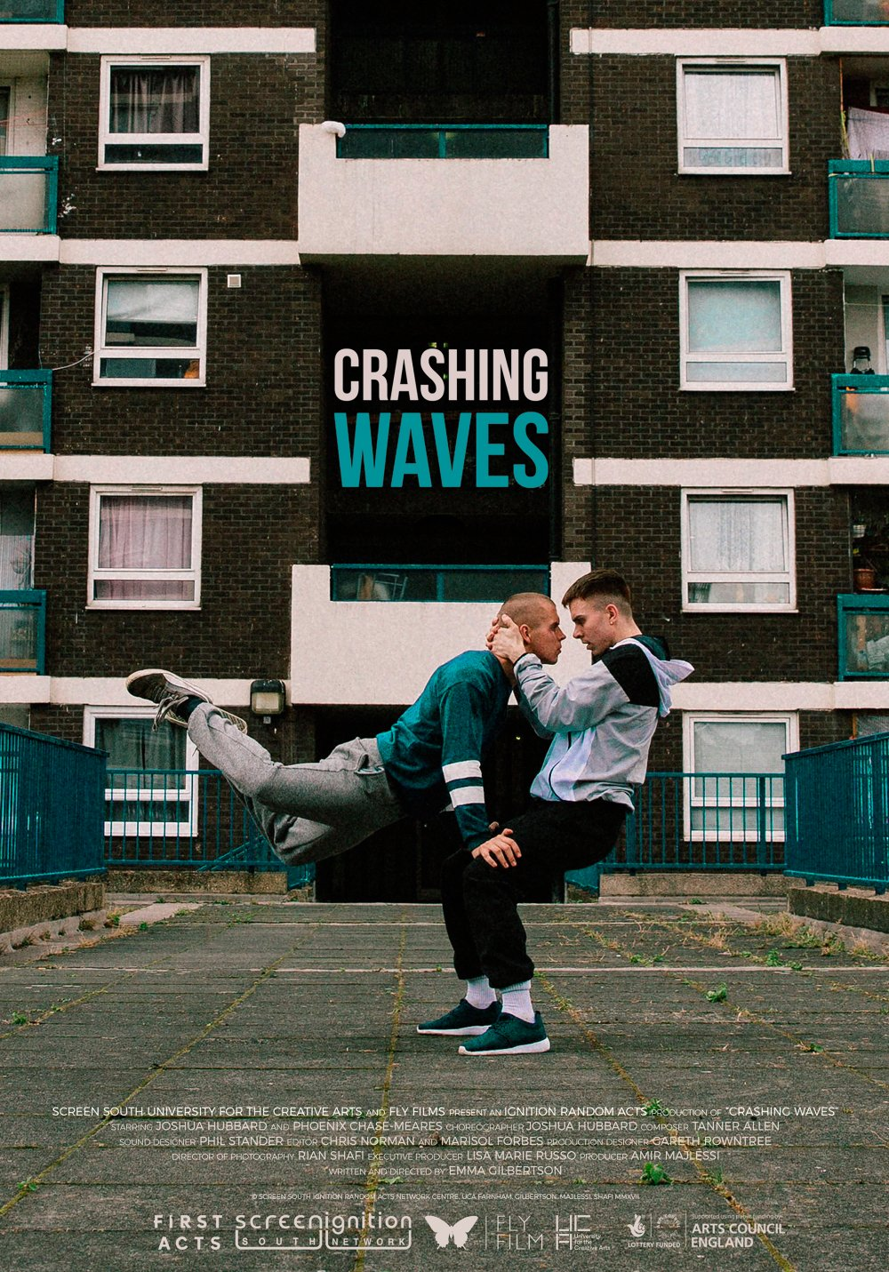<strong>Crashing Waves</strong> (screening as part of the shorts programme The Way Things Are) – Against the backdrop of a high-rise housing estate, two young men connect