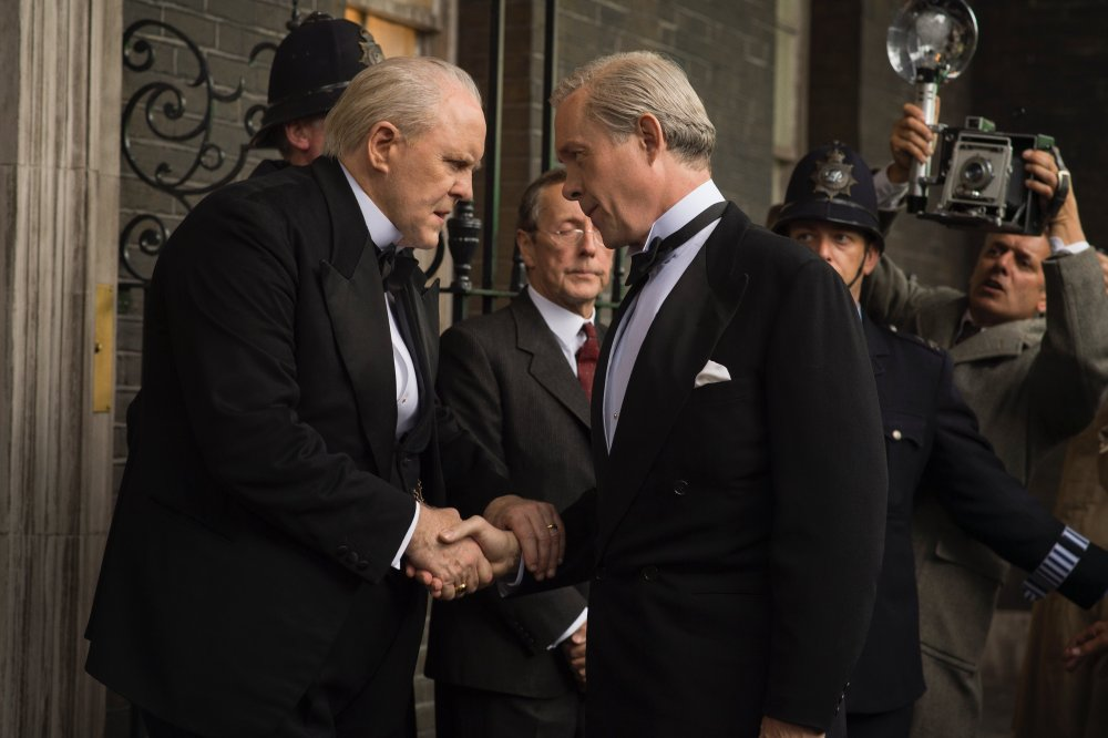 John Lithgow as Winston Churchill with Alex Jennings as Edward, Duke of Windsor