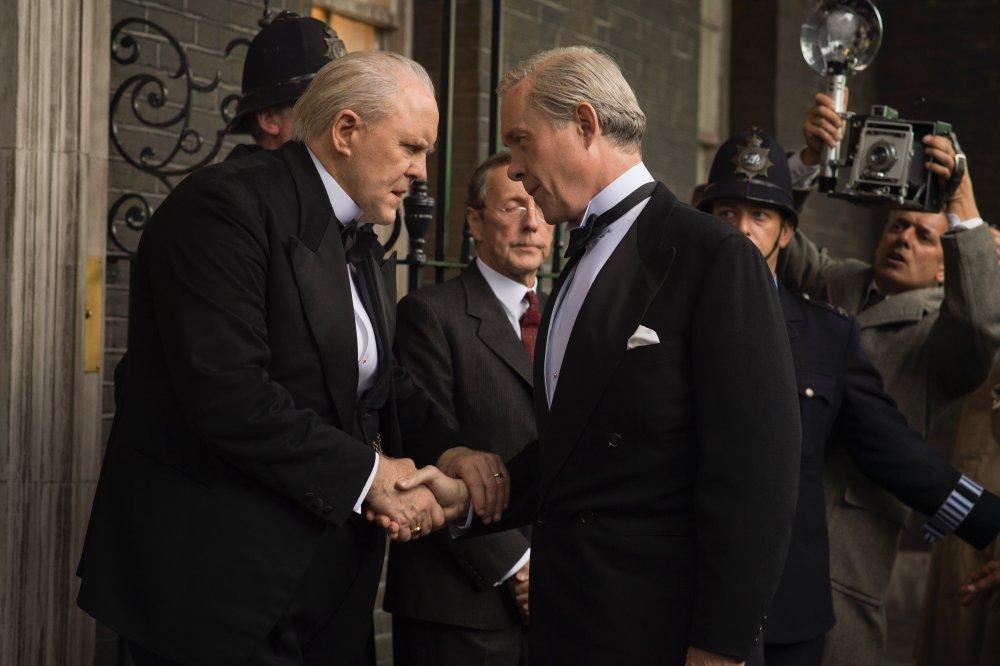 John Lithgow as Winston Churchill with Alex Jennings as Edward, Duke of Windsor