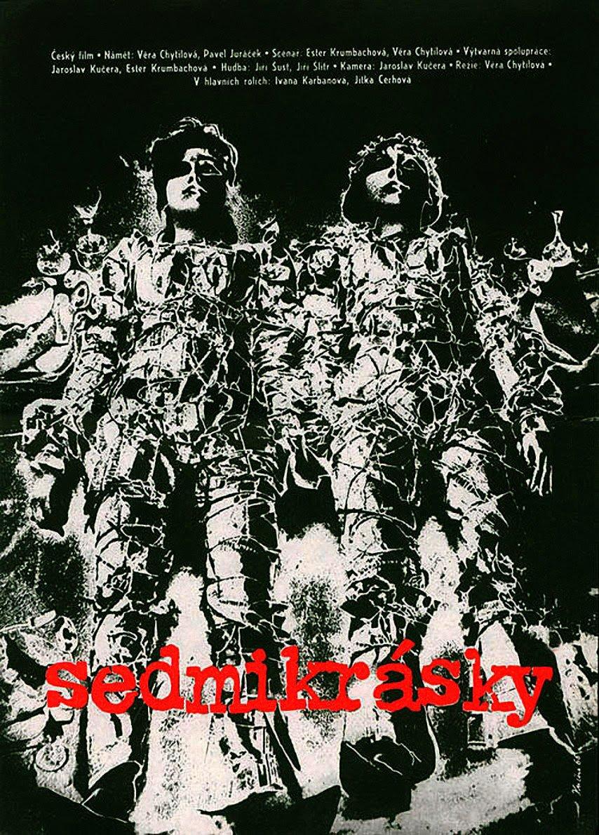 The poster for Daises (Sedmikrásky, 1966) was designed by the film's cinematographer, and Chytilová's second husband, Jaroslav Kucera.