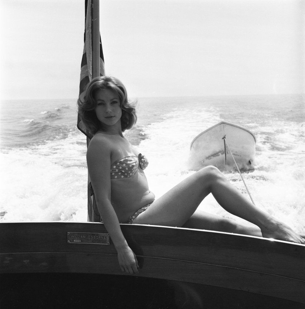 Publicity shot of Shirley Anne Field, who plays King's (Oliver Reed) sister Joan. Field's other films include Peeping Tom (1960), Saturday Night and Sunday Morning (1960) and Alfie (1965)