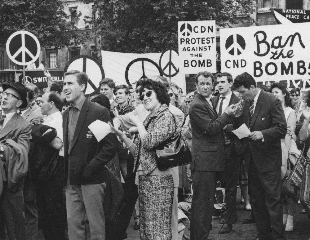 The CND demonstration in Trafalgar Square