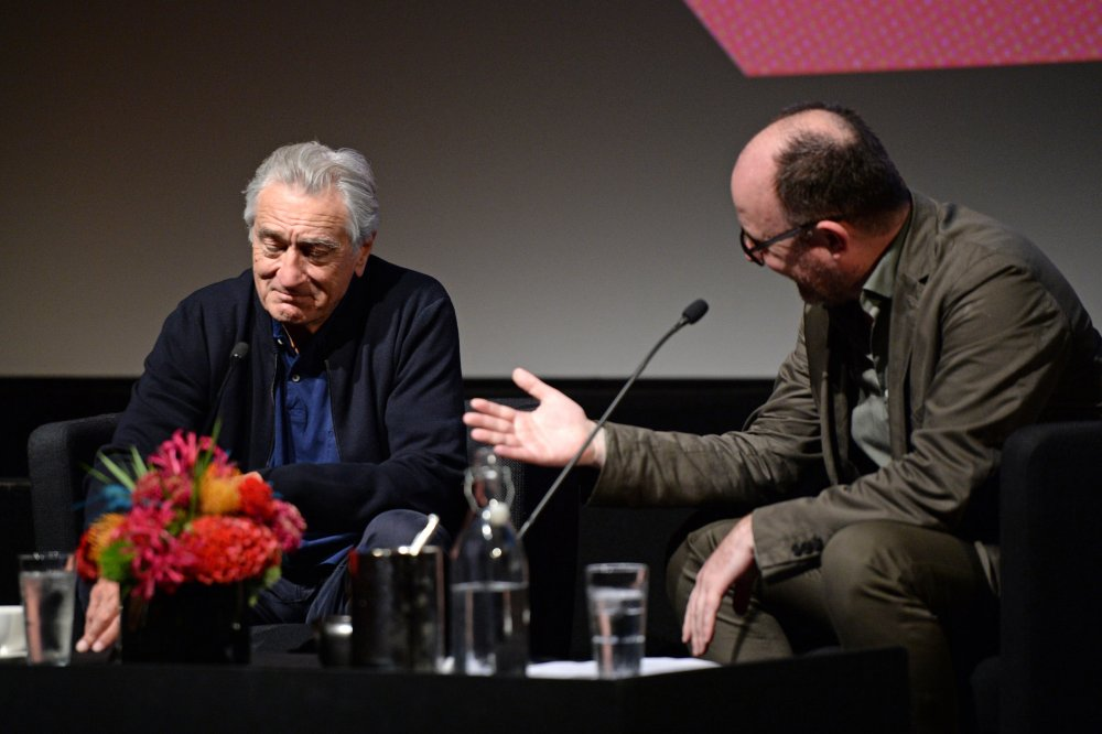 Robert De Niro with Ian Hayden Smith at De Niro's 2019 BFI London Film Festival Screen Talk
