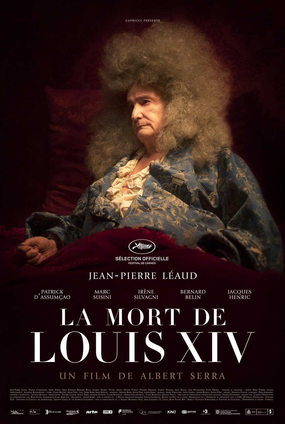 The Cannes festival poster for The Death of Louis XIV (2016)