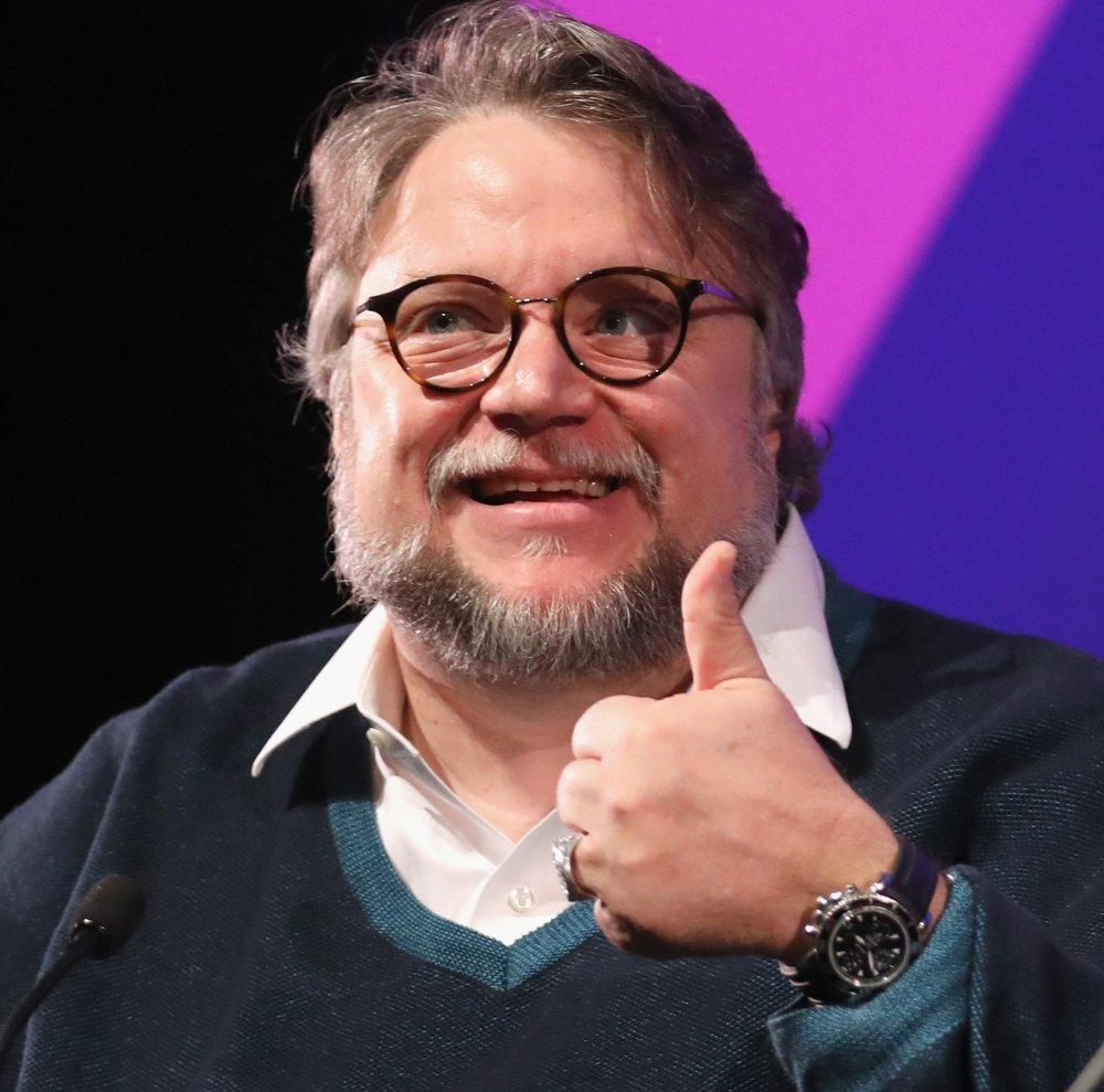Guillermo del Toro on stage at the 2017 BFI London Film Festival