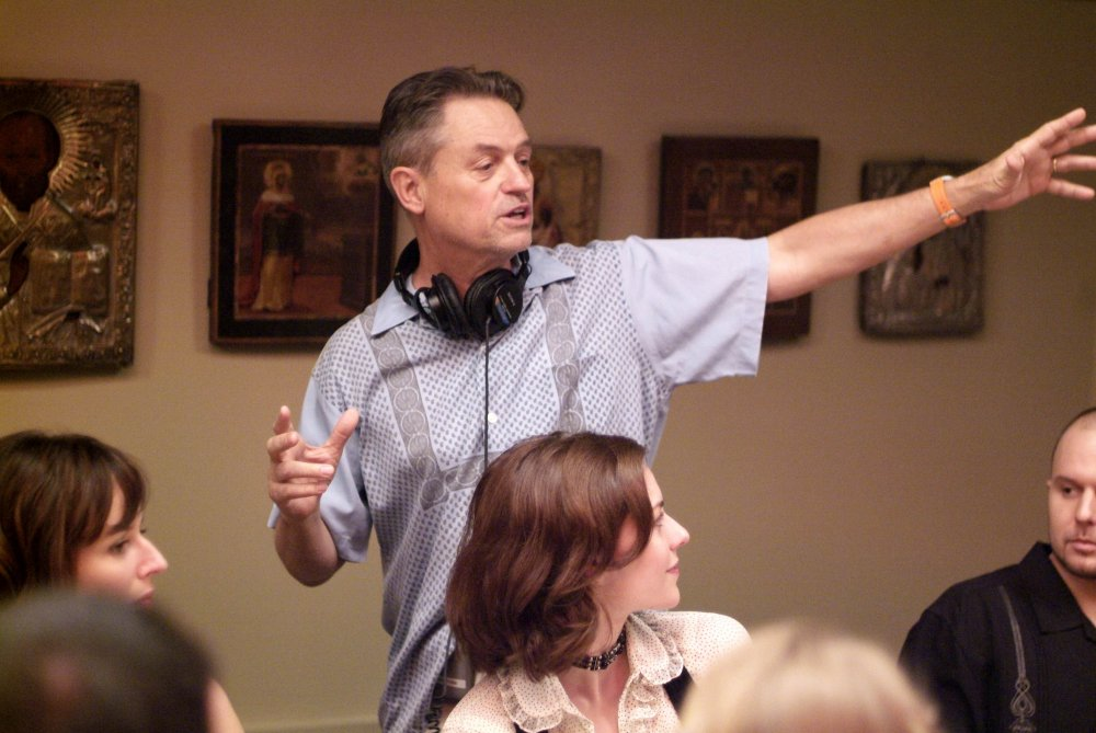 Jonathan Demme on the set of Rachel Getting Married (2008)
