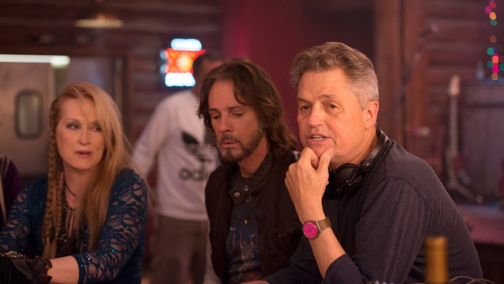 Meryl Streep, Rick Springfield and Demme on the set of Ricki and the Flash (2015)