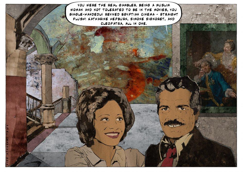 "<strong>Omar Shariff</strong> and <strong>Faten Hamama</strong>. Citations: David Garrick <span class=""amp"">&</span> Eva-Maria Veigel (William Hogarth, circa 1757-64)"