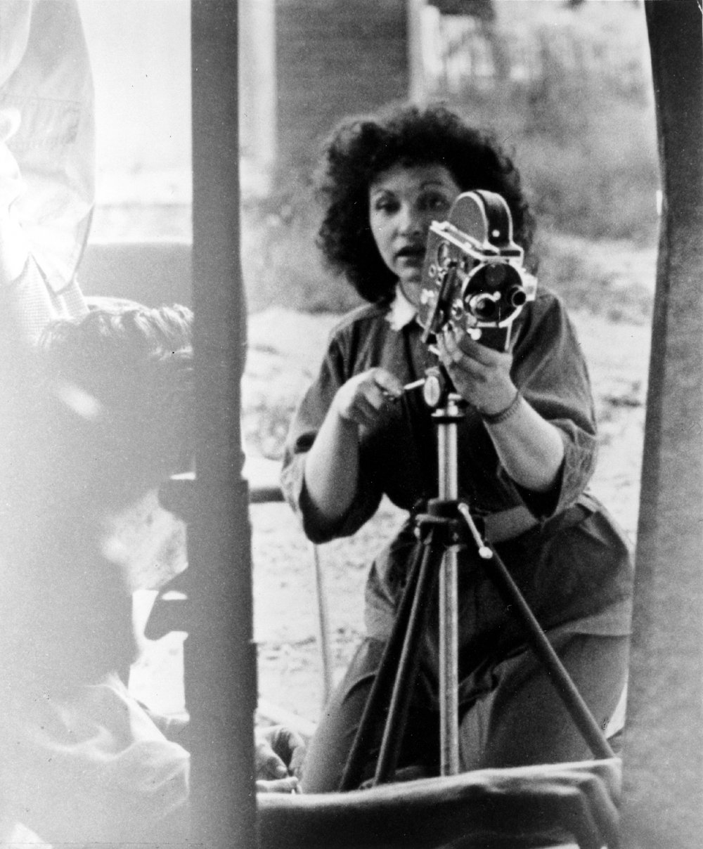 American independent film poet and pioneer Maya Deren shooting A Study in Choreography for Camera (1945)