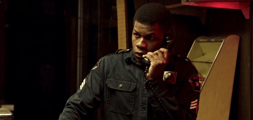 John Boyega as Algiers Motel security guard Melvin Dismukes in Katherine Bigelow's Detroit