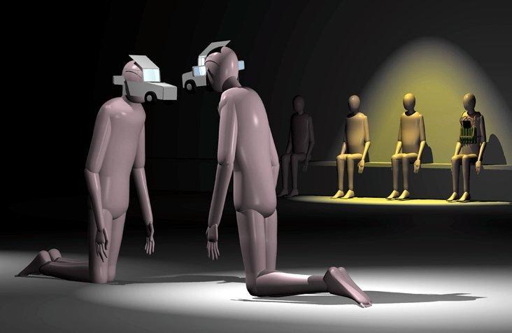 Yves Netzhammer's Dialogical Abrasion (2010)