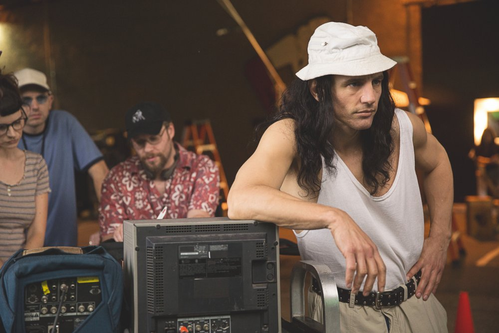 James Franco as director Tommy Wiseau directing the latter's The Room in the former's The Disaster Artist