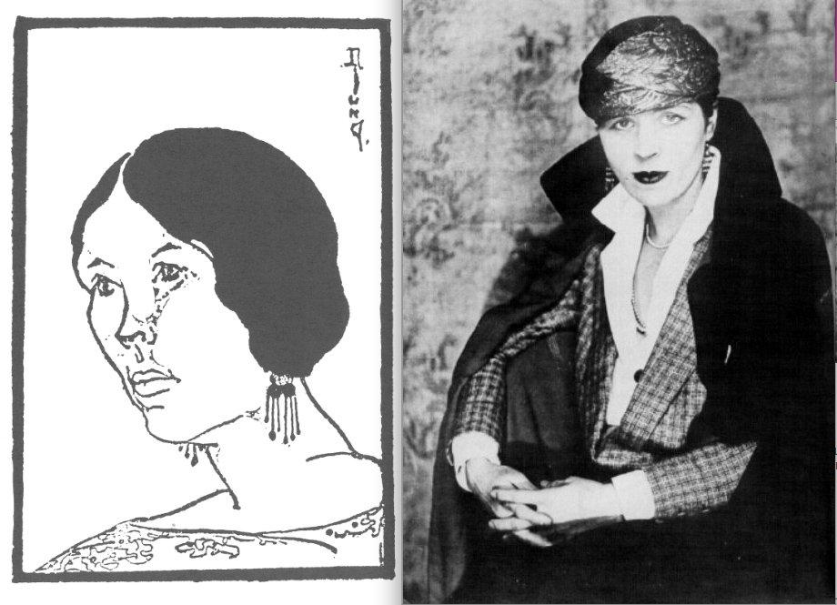 A self-portrait (left) and portrait of Djuna Barnes