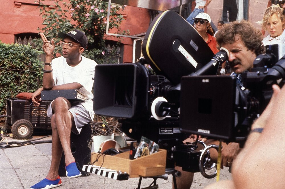 Spike Lee on location for Do the Right Thing (1989)