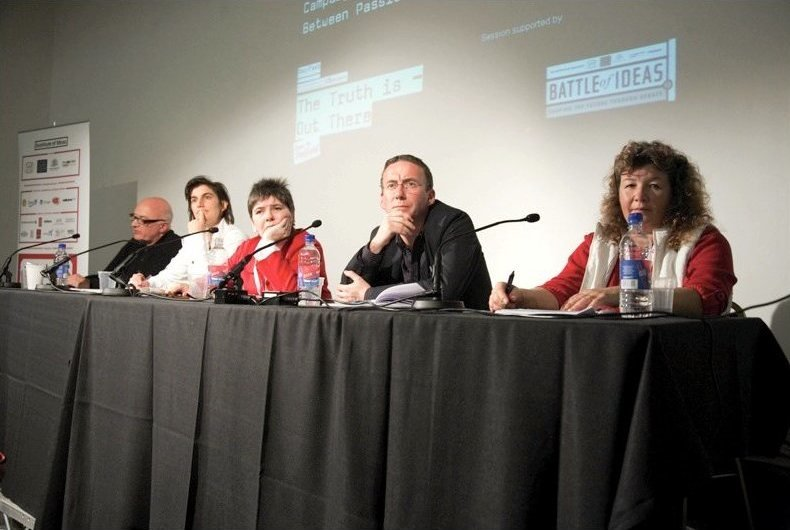 Nick Fraser, Jess Search, Claire Fox, Kevin Toolis and Ceri Dingle